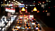 Traffic jam on the highway, time lapse video