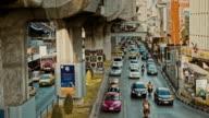 Traffic jam in Bangkok - time lapse. video