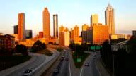 Traffic leading into downtown Atlanta, Georgia video