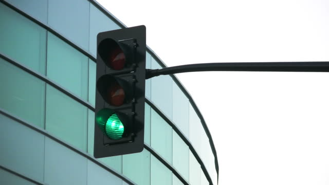HD: Traffic Light and Office Building loop. video
