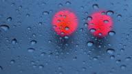 traffic light in rainy day video