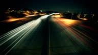 Traffic Light Streaks At Night video