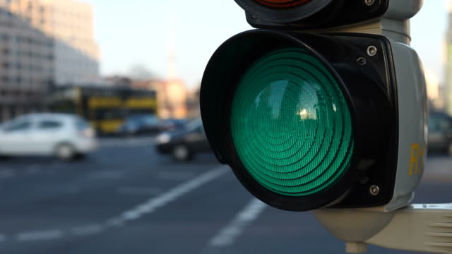 traffic light - time lapse video