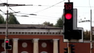 Traffic lights at the crossroads video