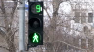 Traffic lights from green to red. video