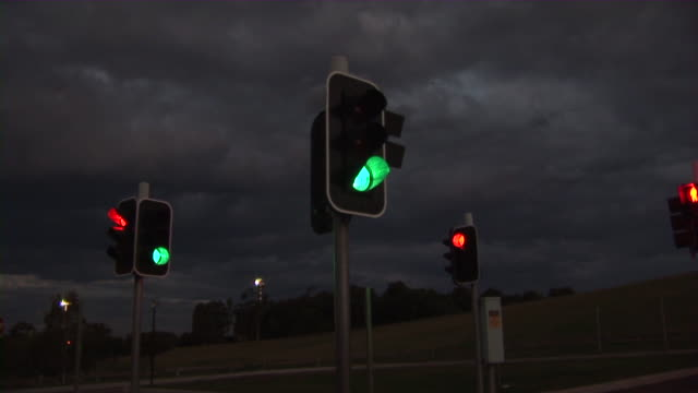 traffic lights time lapse video