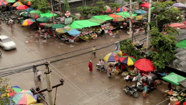Traffic Local market in Bagan, Myanmar video