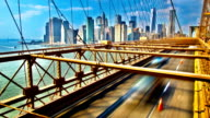 Traffic of Brooklyn bridge video