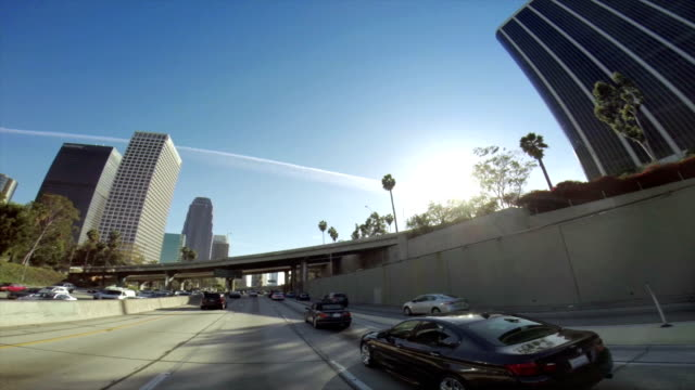 WS POV Traffic On A Highway In Los Angeles video