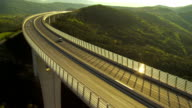 Traffic On A Viaduct video