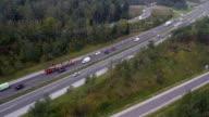 AERIAL: Traffic on freeway video