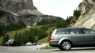 Traffic On Gardena Pass In South Tyrol video