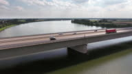 Traffic On Highway Bridge Over Big River video