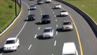 Traffic on highway curve. video
