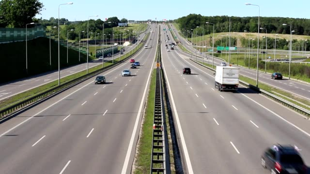 Traffic on highway freeway expressway video