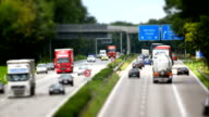 Traffic On Highway Tilt Shift Effect video