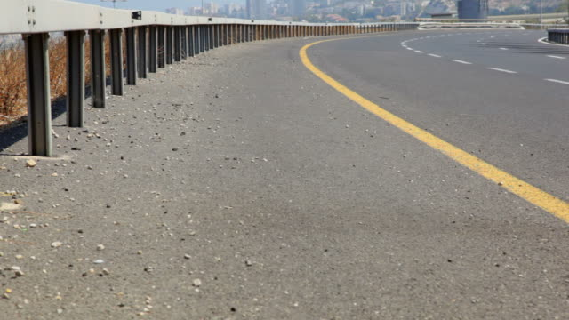 Traffic on highway. Timelapse video