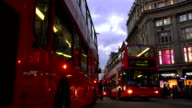 Traffic On London Oxford Circus At Night video
