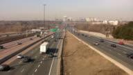 Traffic on multi-lane highway. video