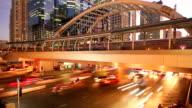 traffic on sathorn road,Bangkok thailand video