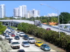 Traffic on the outskirts of Miami video