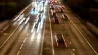 Traffic on the road - night timelapse video