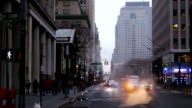 Traffic on the Street of New York City. Slow Motion video