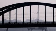 Traffic over Belgrade bridges video