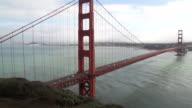 Traffic Passing Over Golden Gate Bridge video