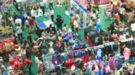 FULL HD - Traffic people in shopping mall TIME LAPSE video