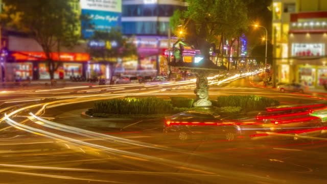 4K TIME LAPSE (4096x2160) : Traffic roundabout busy. (Apple ProRes. 422(HQ)) video