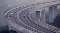 Traffic rushing by on a viaduct video