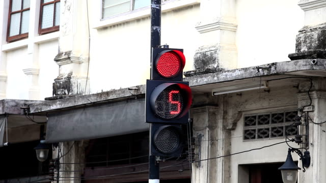 Traffic Signal ,number count down video