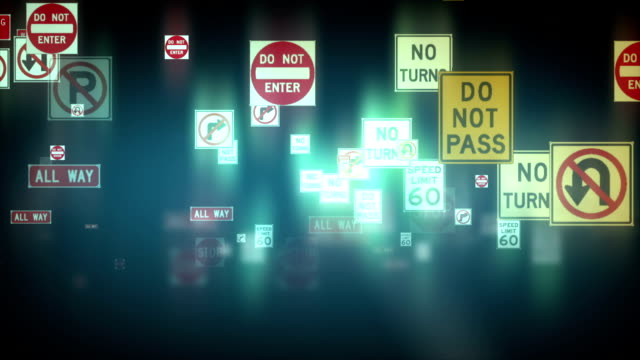 Traffic Signs Background video