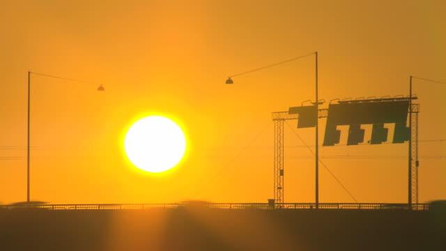 Traffic sunset sunlight timelap. HQ 4:2:2 video