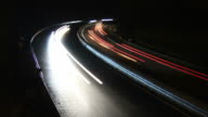 Traffic timelapse by night on a highway video