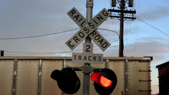 Train Crossing Lights video
