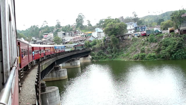 Train Goes Across Bridge video