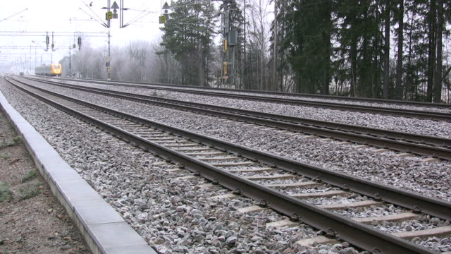 Train in motion video
