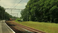 Train in the country with sound video