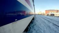 Train journey at Eastern Anatolia in winter video