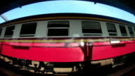 Train moving, Fish eye lens video