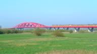 Train on a bridge video