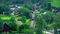 train passing german village video