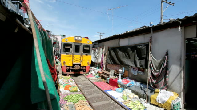 Train passing the famous market video