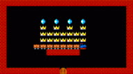 Train puzzle, retro style low resolution pixelated game graphics animation video