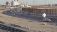 Train Rolls Along the Border Highway video