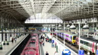Train station in Manchester, England UK video
