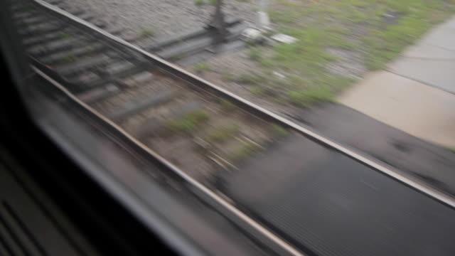 Train tracks. video