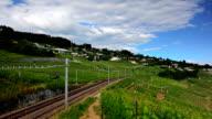 train went through the lausanne vineyard video